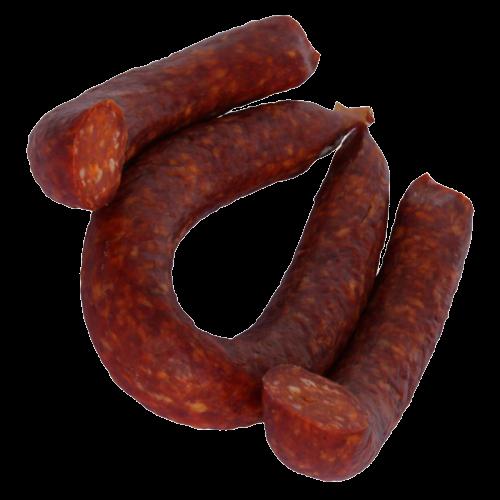 Rote Wurst mit Paprika