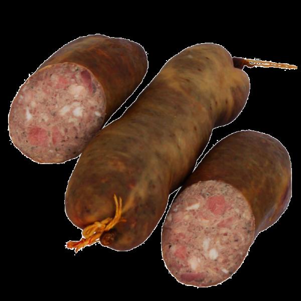 Leberwurst im Krausedarm